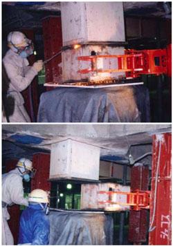demolizione pilastro Kajima