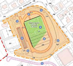 L'area del nuovo stadio Is Arenas